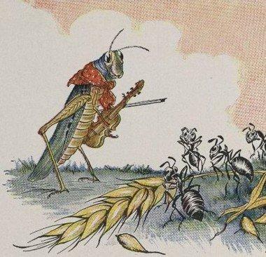 Illustration nach Äsops Fabel von Mario Winter 1919.