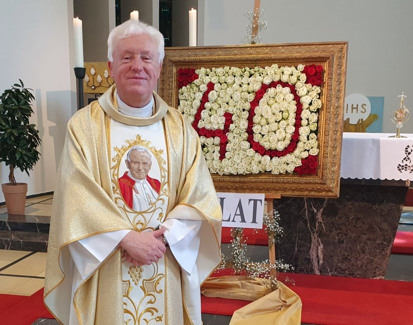 Pfarrer Marian Wagner, Leiter der Katholischen Polnischen Mission Münster, beging am 17. Mai sein 40-jähriges Priesterjubiläum. Foto: Franz-Thomas Sonka