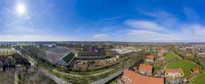 Die Oxford-Kaserne in Gievenbeck von oben: Hier sind 1200 Wohneinheiten in neuen und alten Gebäuden geplant. Foto: Presseamt Münster.