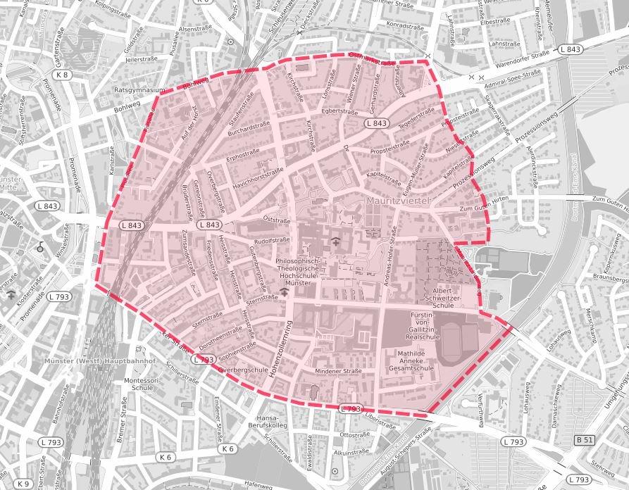 Räumzone für den 20.09.20 (Quelle: stadt-muenster.de)
