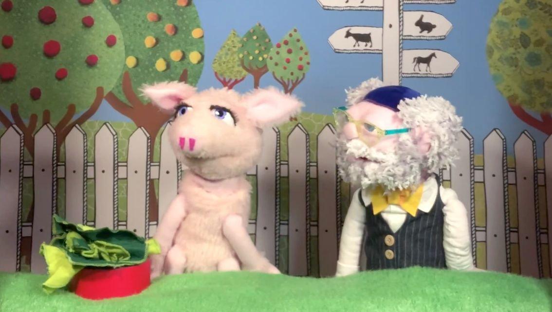 Schweinchen Babbett und Rabbi Kohlrabi. Foto: Bubales